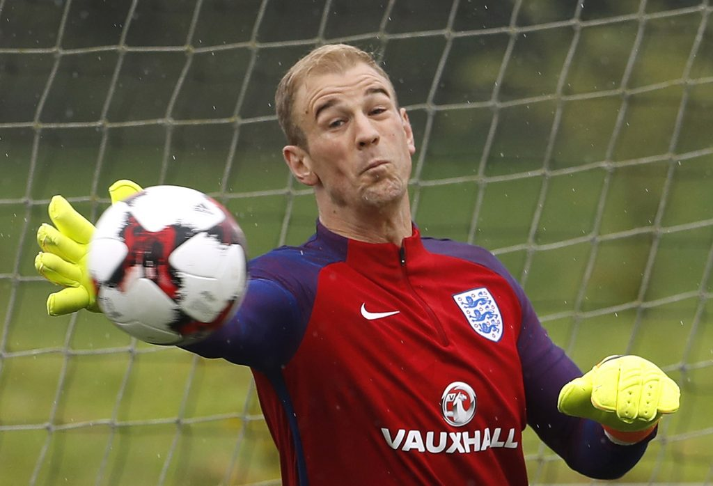 Britain Football Soccer - England Training - St George's Park - 3/9/16 England's Joe Hart during training Action Images via Reuters / Lee Smith  EDITORIAL USE ONLY. - RTX2O3ZZ