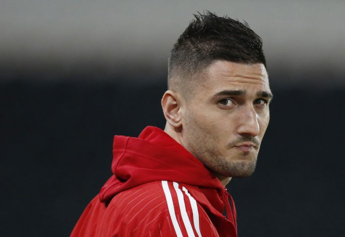 "Football Soccer - Hull City v Nottingham Forest - Sky Bet Football League Championship - The Kingston Communications Stadium - 15/3/16 Federico Macheda of Nottingham Forest before the game Mandatory Credit: Action Images / Ed Sykes Livepic EDITORIAL USE ONLY. No use with unauthorized audio, video, data, fixture lists, club/league logos or ""live"" services. Online in-match use limited to 45 images, no video emulation. No use in betting, games or single club/league/player publications. Please contact your account representative for further details. - RTSAKXW"