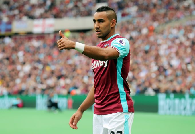 "Britain Soccer Football - West Ham United v Watford - Premier League - London Stadium - 10/9/16 West Ham United's Dimitri Payet Reuters / Eddie Keogh Livepic EDITORIAL USE ONLY. No use with unauthorized audio, video, data, fixture lists, club/league logos or ""live"" services. Online in-match use limited to 45 images, no video emulation. No use in betting, games or single club/league/player publications. Please contact your account representative for further details. - RTSN4CN"