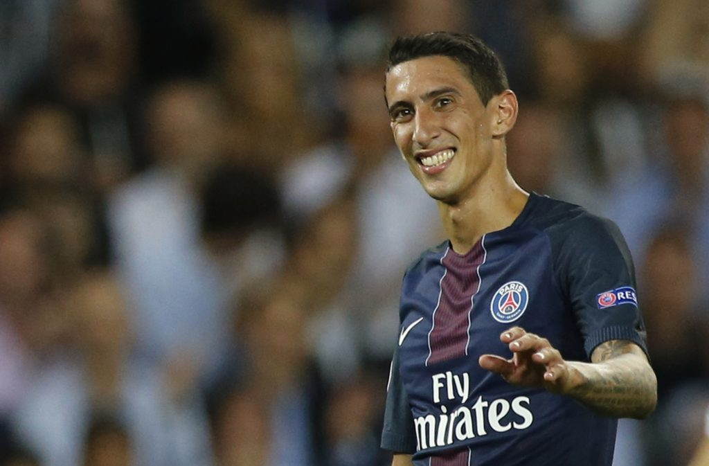Football Soccer - Paris Saint-Germain v Arsenal - UEFA Champions League Group Stage - Group A - Parc des Princes, Paris, France - 13/9/16 Paris Saint-Germain's Angel Di Maria  Reuters / Benoit Tessier Livepic EDITORIAL USE ONLY. - RTSNLQB