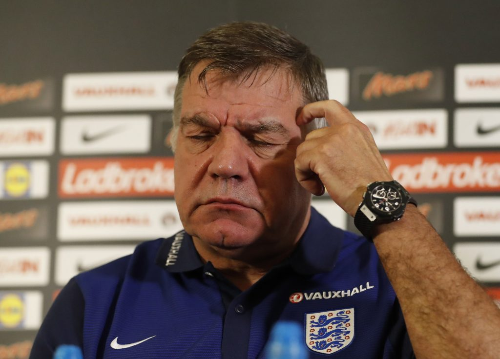 Britain Football Soccer - England - Sam Allardyce Press Conference - St. George?s Park - 29/8/16 England manager Sam Allardyce during the press conference Action Images via Reuters / Carl Recine Livepic EDITORIAL USE ONLY. - RTSPQ5F