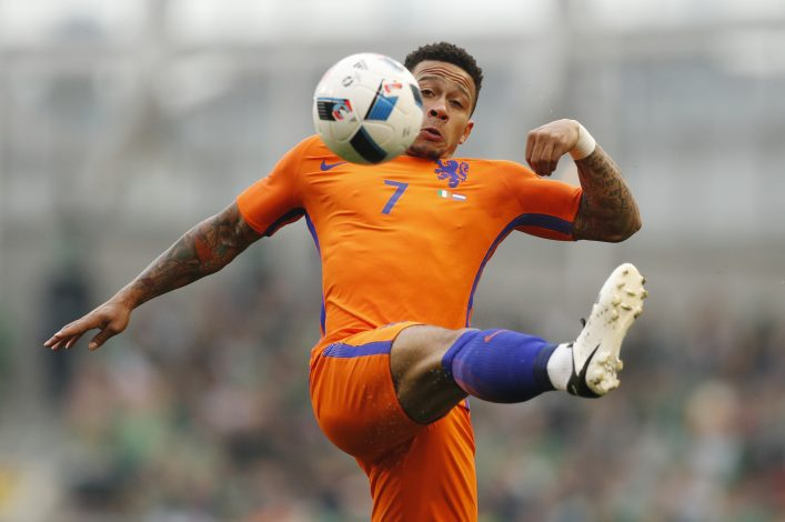 Football Soccer - Republic of Ireland v Netherlands - International Friendly - Aviva Stadium, Dublin, Republic of Ireland - 27/5/16 Netherlands' Memphis Depay in action Action Images via Reuters / John Sibley Livepic EDITORIAL USE ONLY. - RTX2EJGH