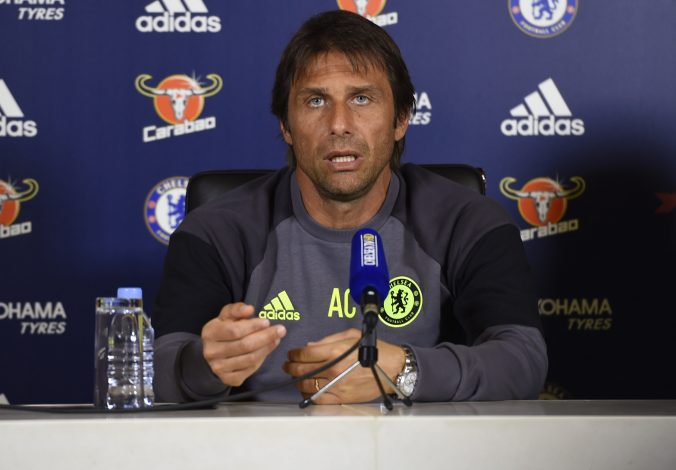 Britain Football Soccer - Chelsea - Antonio Conte Press Conference - Chelsea Training Ground - 9/9/16 Chelsea manager Antonio Conte during the press conference Action Images via Reuters / Tony O'Brien Livepic EDITORIAL USE ONLY. - RTX2OT0P