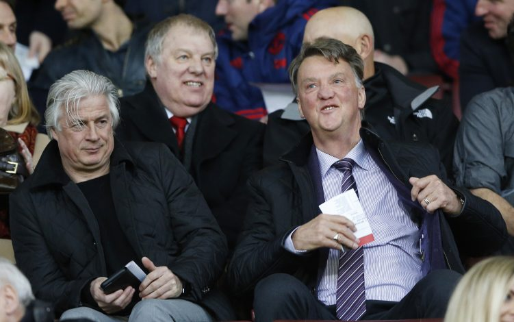 Football Soccer - Manchester United v Chelsea - Barclays Under 21 Premier League - Old Trafford - 4/4/16 Manchester United manager Louis van Gaal and assistant coach Marcel Bout in the stands before the game Action Images via Reuters / Carl Recine Livepic EDITORIAL USE ONLY. - RTSDK90