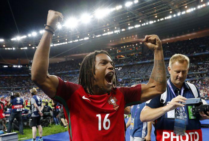 Football Soccer - Portugal v France - EURO 2016 - Final - Stade de France, Saint-Denis near Paris, France - 10/7/16 Portugal's Renato Sanches celebrates after winning Euro 2016 REUTERS/Michael Dalder Livepic - RTSH948
