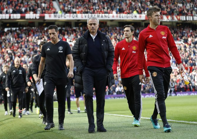 Britain Soccer Football - Manchester United v Stoke City - Premier League - Old Trafford - 2/10/16 Manchester United manager Jose Mourinho before the match Action Images via Reuters / Carl Recine Livepic EDITORIAL USE ONLY. - RTSQDY1