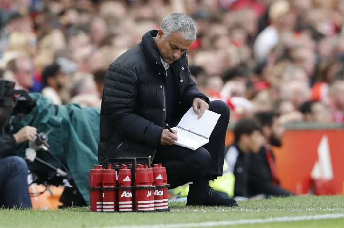 Britain Soccer Football - Manchester United v Stoke City - Premier League - Old Trafford - 2/10/16 Manchester United manager Jose Mourinho  Action Images via Reuters / Carl Recine Livepic EDITORIAL USE ONLY. - RTSQDYA