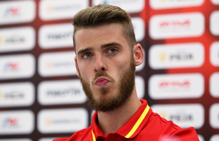 Football Soccer - Spain News Conference - World Cup 2018 Qualifiers - Loro Borici Stadium, Shkoder, Albania - 8/10/16. Spain's goalkeeper David de Gea. REUTERS/Antonio Bronic - RTSRDIK