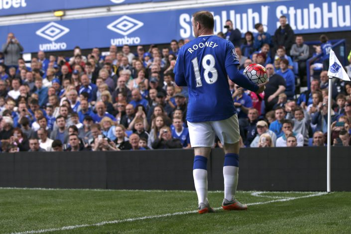 Football - Everton v Villarreal - Duncan Ferguson Testimonial - Goodison Park - 2/8/15 Everton's Wayne Rooney Mandatory Credit: Action Images / Lee Smith Livepic EDITORIAL USE ONLY. - RTX1MQXN