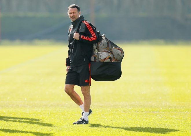 Football Soccer - Manchester United Training - Manchester United Training Ground, Manchester, England - 24/2/16Manchester United assistant manager Ryan Giggs during trainingAction Images via Reuters / Jason Cairnduff/File PhotoLivepicEDITORIAL USE ONLY. - RTX2J88E
