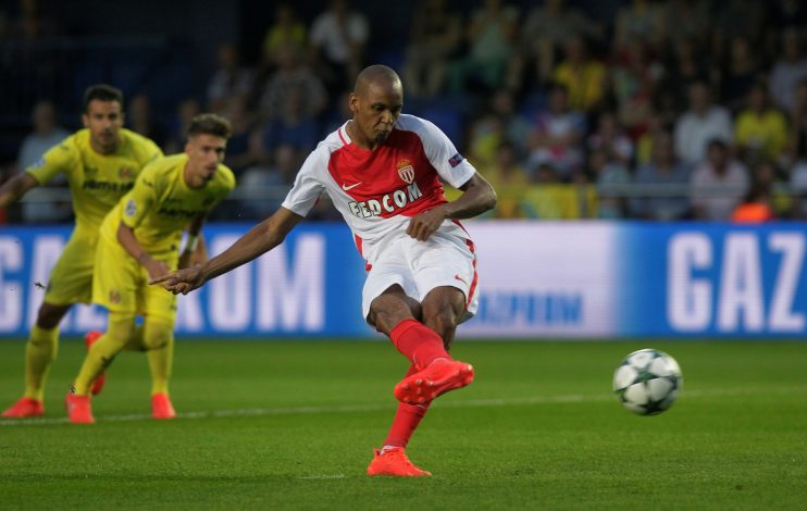 Football Soccer - Villarreal v Monaco - Champions League - Play-Off 1st leg - Madrigal Stadium - Villarreal, Spain, 17/08/16. Monaco's Fabinho shoots to score a penalty. REUTERS/Heino Kalis - RTX2LLC6