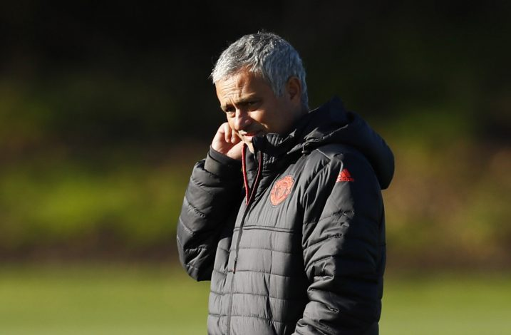 Britain Football Soccer - Manchester United Training - Manchester United Training Ground - 19/10/16 Manchester United manager Jose Mourinho during training Action Images via Reuters / Jason Cairnduff Livepic EDITORIAL USE ONLY. - RTX2PH2S