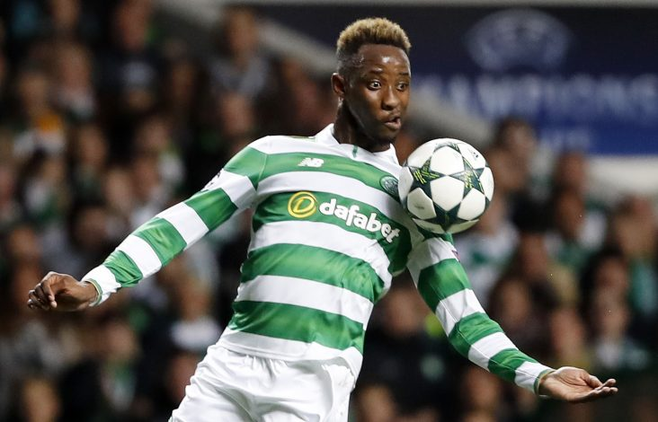Britain Football Soccer - Celtic v Borussia Monchengladbach - UEFA Champions League Group Stage - Group C - Celtic Park, Glasgow, Scotland - 19/10/16 Celtic's Moussa Dembele in action Reuters / Russell Cheyne Livepic EDITORIAL USE ONLY. - RTX2PKIC