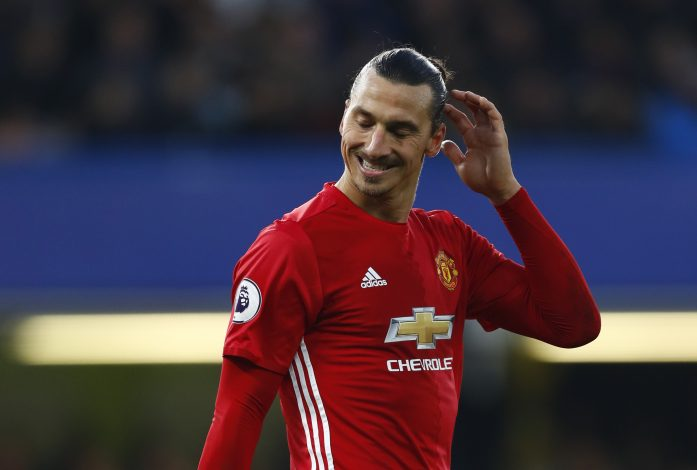 "Britain Soccer Football - Chelsea v Manchester United - Premier League - Stamford Bridge - 23/10/16 Manchester United's Zlatan Ibrahimovic looks dejected at the end of the match Reuters / Eddie Keogh Livepic EDITORIAL USE ONLY. No use with unauthorized audio, video, data, fixture lists, club/league logos or ""live"" services. Online in-match use limited to 45 images, no video emulation. No use in betting, games or single club/league/player publications. Please contact your account representative for further details. - RTX2Q3QC"
