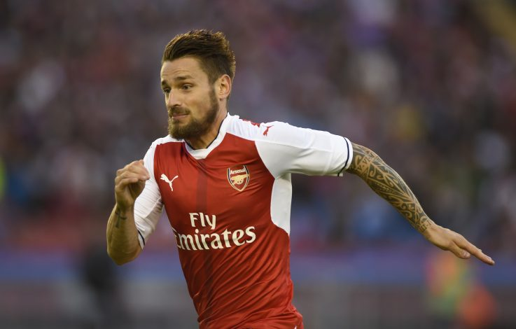 Football Soccer - Arsenal v Manchester City - Pre Season Friendly - Ullevi Stadium, Gothenburg, Sweden - 16/17 - 7/8/16 Arsenal's Mathieu Debuchy Action Images via Reuters / Adam Holt EDITORIAL USE ONLY. - RTSM60G