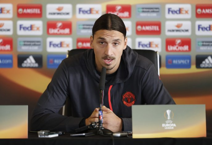 Britain Football Soccer - Manchester United Press Conference - Manchester United Training Ground - 23/11/16 Manchester United's Zlatan Ibrahimovic during the press conference Action Images via Reuters / Carl Recine Livepic EDITORIAL USE ONLY. - RTSSYPN