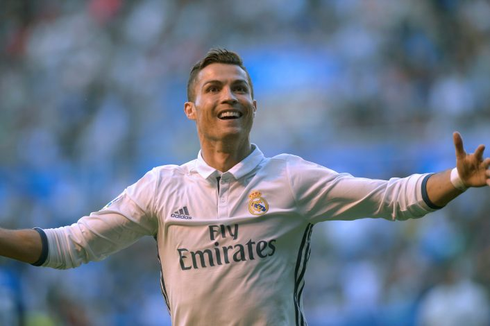 Football Soccer - Alaves v Real Madrid - Spanish Liga BBVA - Mendizorroza, Vitoria, Spain - 29/10/16 Real Madrid's Cristiano Ronaldo reacts after scoring. REUTERS/Vincent West - RTX2QZC9