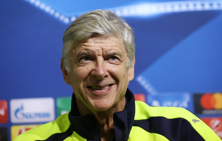 Football Soccer - Arsenal Press Conference - Vasil Levski National Stadium, Sofia, Bulgaria - 31/10/16 Arsenal manager Arsene Wenger during the press conference Reuters / Stoyan Nenov Livepic EDITORIAL USE ONLY. - RTX2R8U9
