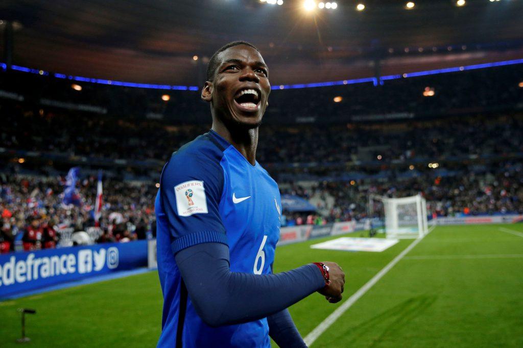 Football Soccer - France v Sweden -2018 World Cup Qualifying European Zone - Group A - Stade de France, Saint-Denis near Paris, France - 11/11/16. France's midfielder Paul Pogba celebrates at the end of the match. REUTERS/Benoit Tessier - RTX2TAM6
