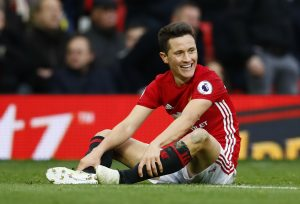 Ander Herrera sat on the pitch.