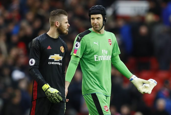 David De Gea with Petr Cech