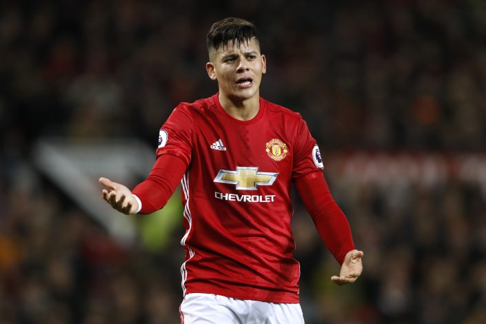 Manchester United's Marcos Rojo.