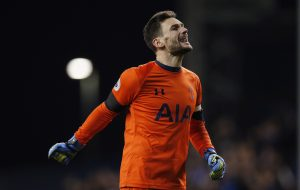Hugo Lloris celebrates