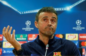 Luis Enrique in Barcelona news conference.