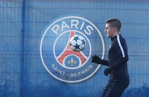 Marco Verratti during the training.