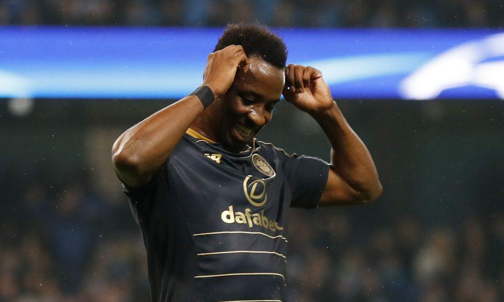Celtic's Moussa Dembele looks dejected.