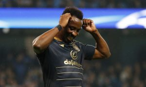 Celtic's Moussa Dembele looks dejected.