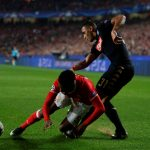 Nelson Semedo in action against Faouzi Ghoulam