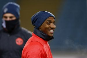 Ashley Young during training