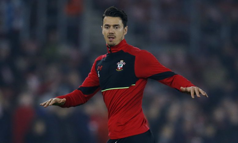 Jose Fonte during the warm up.