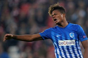 Leon Bailey reacts.
