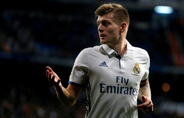 Toni Kroos in action.