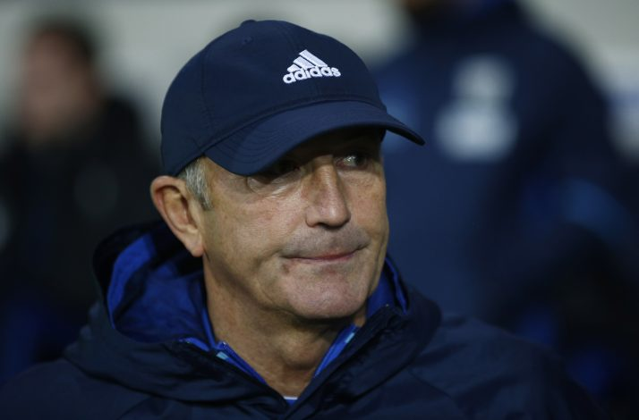 Tony Pulis before the match.