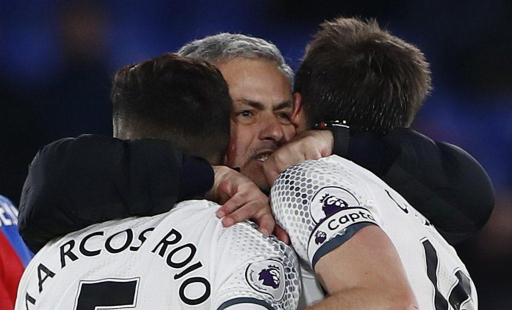 Jose Mourinho celebrate after the game.
