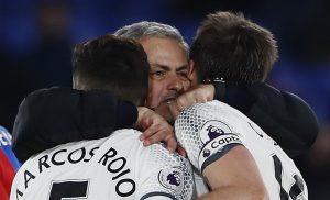 Jose Mourinho celebrate after the game.