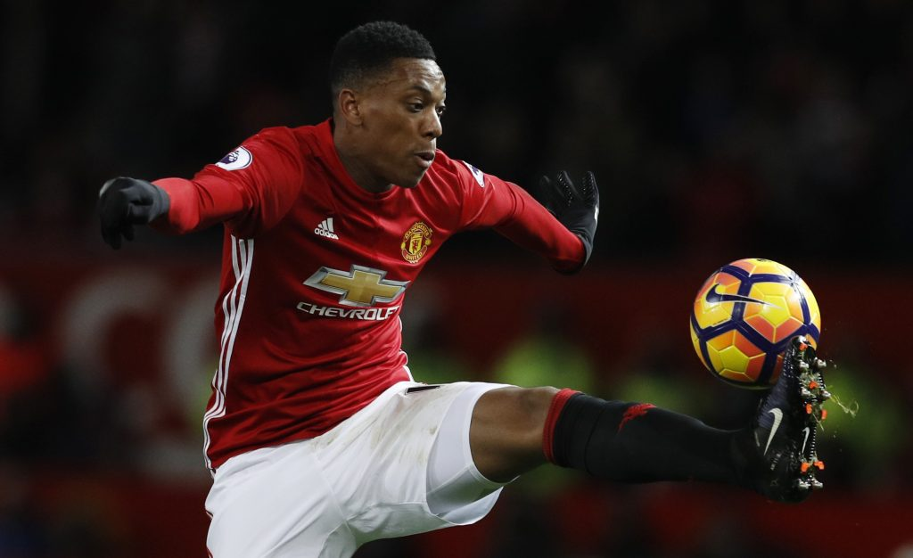 Anthony Martial in action.
