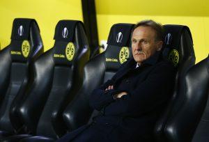 Borussia Dortmund chief executive Hans Joachim Watzke before the game.