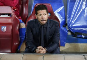 Atletico Madrid coach Diego Simeone.