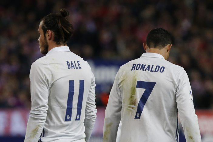 Real Madrid's Gareth Bale and Cristiano Ronaldo.