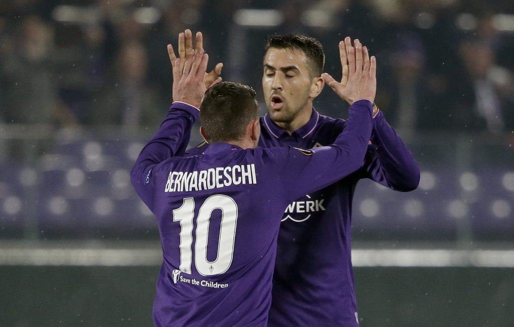 Federico Bernardeschi celebrates after scoring.
