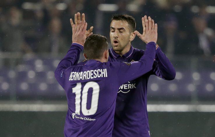 Federico Bernardeschi celebrates after scoring.