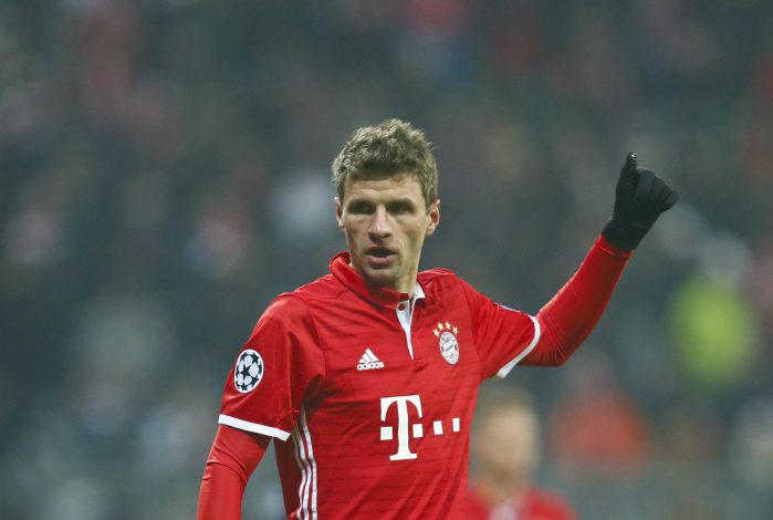 Thomas Mueller reacts.