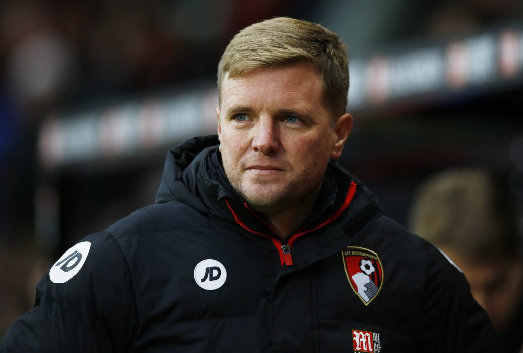 Bournemouth manager Eddie Howe before the match.