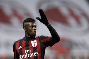 AC Milan's M'baye Niang gestures.