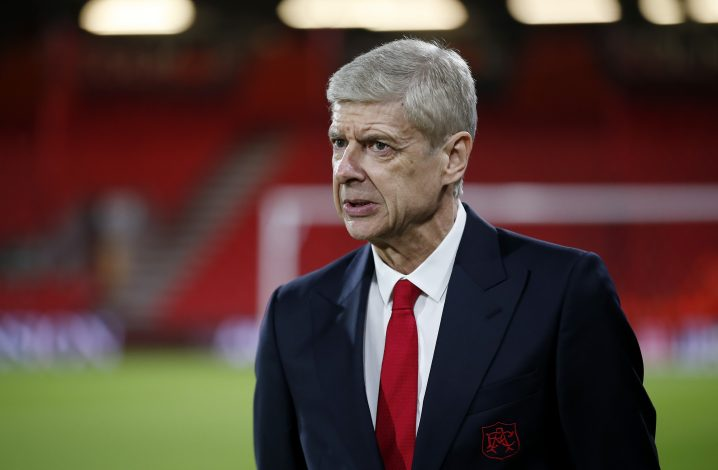 Arsenal manager Arsene Wenger before the match.
