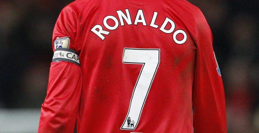 Manchester United's captain Cristiano Ronaldo walks off the pitch.